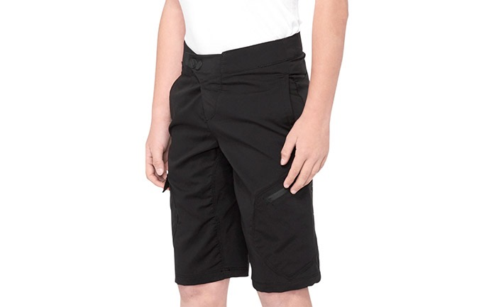 100% KIDS RIDECAMP SHORTS BLACK