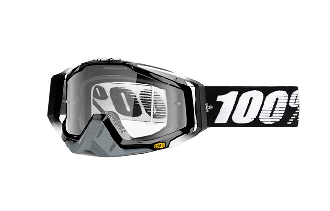 100% RACECRAFT ABYSS GOGGLES - CLEAR LENS 2019