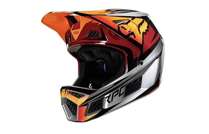 FOX RAMPAGE PRO CARBON HELMET ICE RED 2019