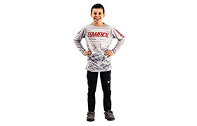 KIDS LONG SLEEVE AMAURY PIERRON REPLICA JERSEY CHALK GREY