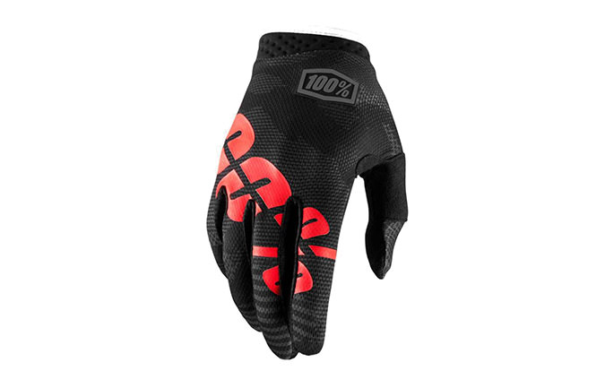 100% ITRACK GLOVES BLACK CAMO 2018