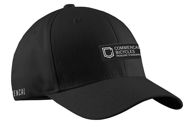 COMMENCAL SHIELD CURVED PEAK CAP BLACK 2019