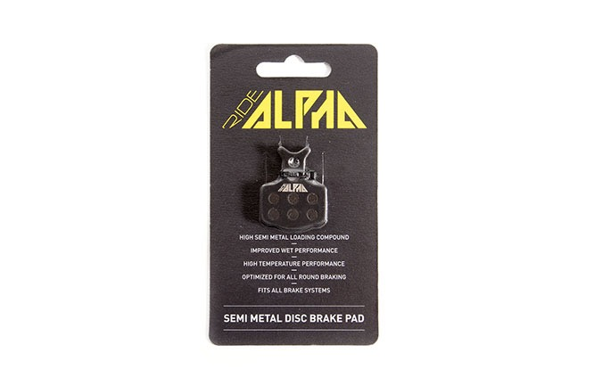 SEMI METAL RIDE ALPHA BRAKE PADS AVID CODE R