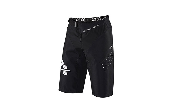 100% R-CORE BLACK SHORTS