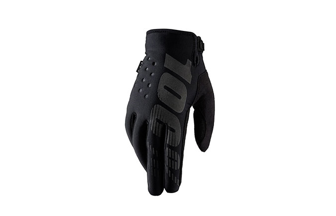 100% BRISKER COLD WEATHER GLOVES BLACK 2018