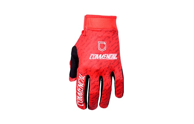 COMMENCAL GLOVES SCRATCH RED 2019