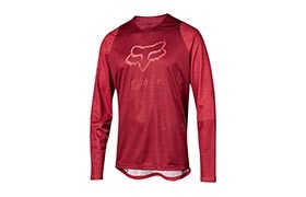 FOX KIDS DEFEND LONG SLEEVE JERSEY OPEN RED 2019