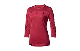 FOX WOMAN DRI-RELEASE 3/4 SLEEVE JERSEY DARK RED