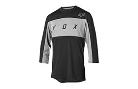 FOX DRI-RELEASE 3/4 SLEEVE JERSEY BLACK 2019