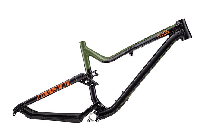 FRAME META AM V4.2 BRITISH COLUMBIA 650B  GREEN/ORANGE/BLACK 2018