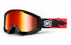 100% STRATA GOGGLE - SLASH - MIRROR RED LENS