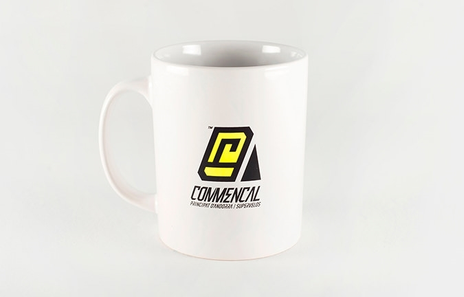 MUG COMMENCAL LOGO WHITE