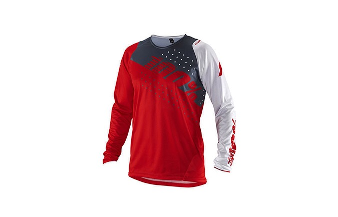 100% KIDS R-CORE RED LONG SLEEVE JERSEY