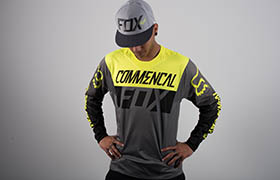 COMMENCAL JERSEY BY FOX HEAD YELLOW