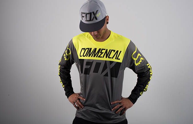COMMENCAL JERSEY BY FOX HEAD YELLOW 2016